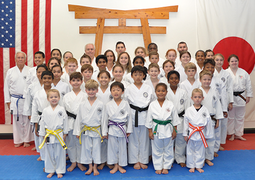 Group photo of students ranging in age from 6 to 76.
